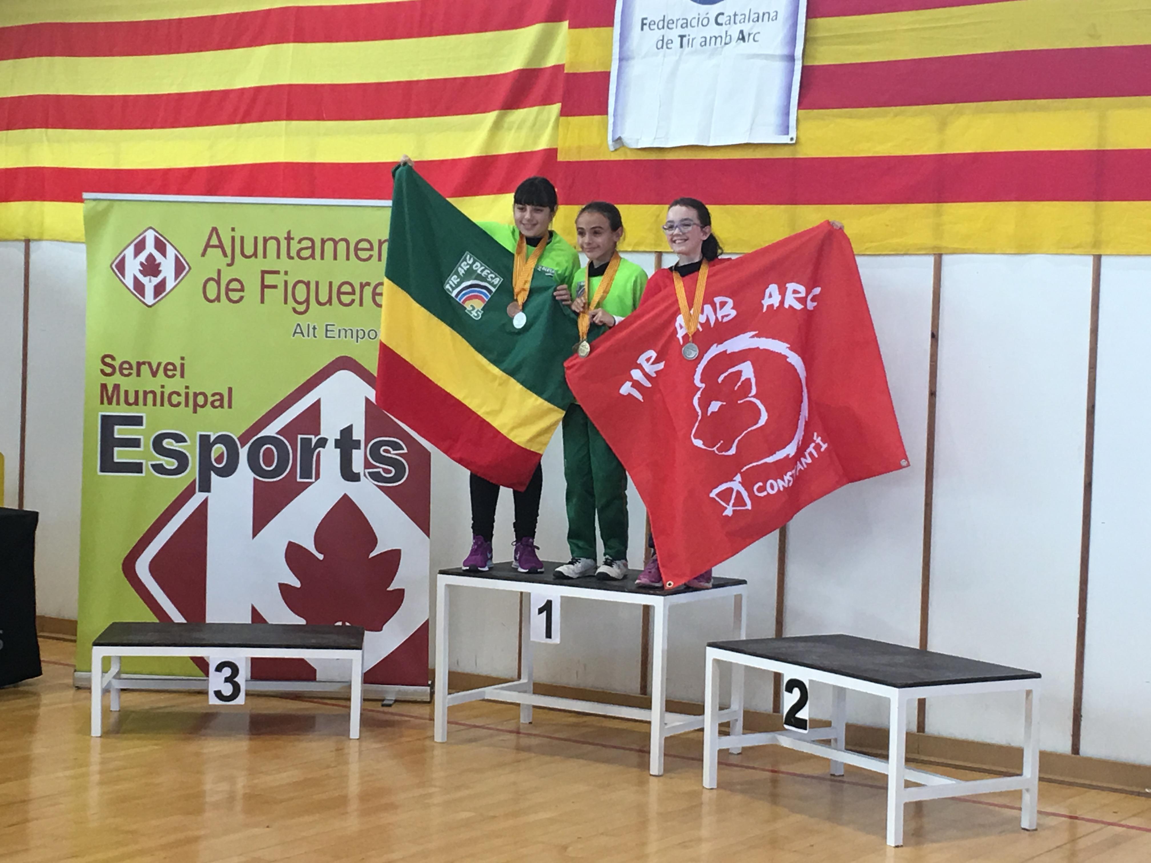 Tres ors, dues plates i un bronze al Campionat de Catalunya en sala 2018