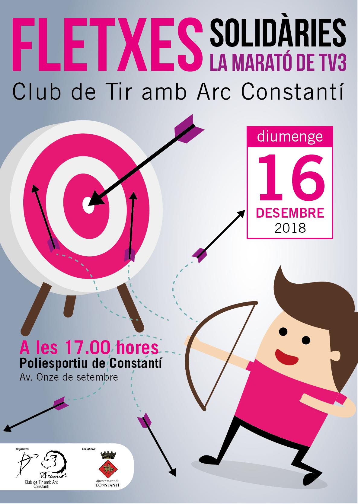 """El Club de Tir amb Arc Constantí promou el projecte """"Fletxes solidàries"""" en col·laboració amb la Marató de TV3"""