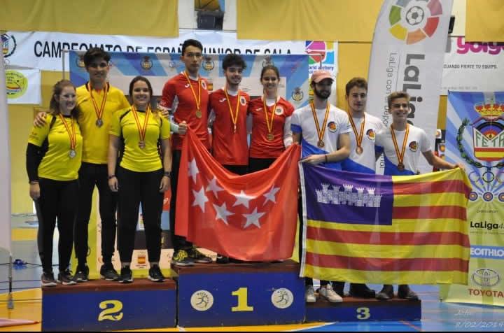Tres medalles per a Constantí en el campionat d'Espanya de tir amb arc